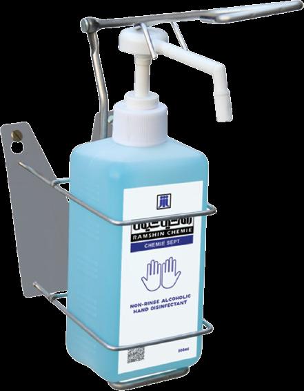 اسپری و پایه دیواری EuroDspenser Basic یک لیتری کالا پزشکی ترکش